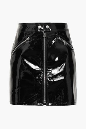 RAG & BONE Patent-leather mini skirt