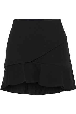 IRO Layered cotton-blend mini skirt