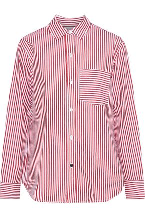 CURRENT/ELLIOTT The Derby striped cotton-poplin shirt