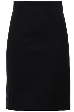 PIAZZA SEMPIONE Grosgrain-trimmed cotton-blend mini skirt