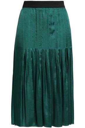 BY MALENE BIRGER Pleated satin-twill skirt