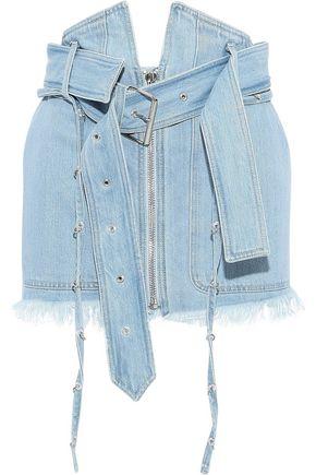 MARQUES' ALMEIDA Frayed ring-embellished mini skirt