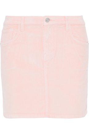 CURRENT/ELLIOTT Wild Aster cotton-blend corduroy mini skirt