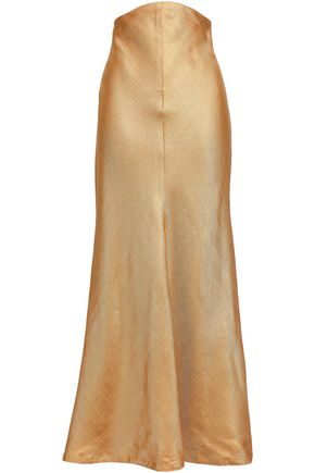 ZIMMERMANN Painted Heart Empire satin-twill maxi skirt