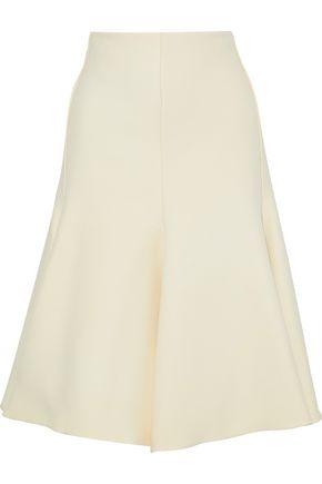 MARNI Flared wool and silk-blend crepe skirt