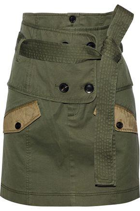 MARISSA WEBB Aster belted cotton-blend canvas mini skirt