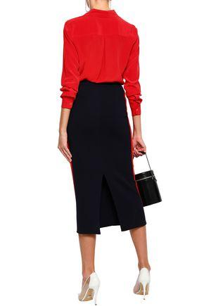 STELLA McCARTNEY Striped cotton midi pencil skirt