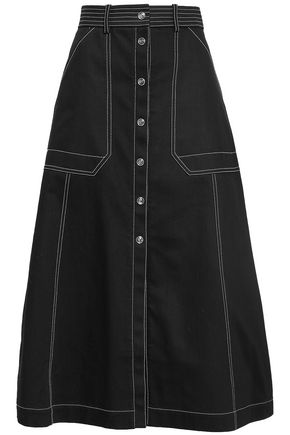 TEMPERLEY LONDON Flared denim midi skirt