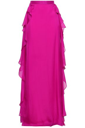 TEMPERLEY LONDON Allure ruffled silk-voile maxi skirt