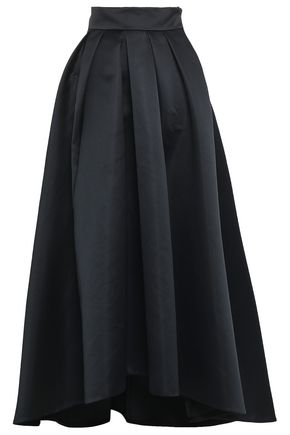 TEMPERLEY LONDON Prestige pleated duchesse-satin maxi skirt
