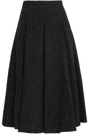 TEMPERLEY LONDON Flared metallic bouclé midi skirt