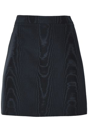 ADAM LIPPES Cotton-blend moire mini skirt