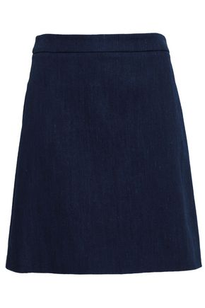 ADAM LIPPES Flared denim mini skirt
