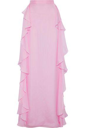 TEMPERLEY LONDON Allure ruffled silk-voile maxi skirt
