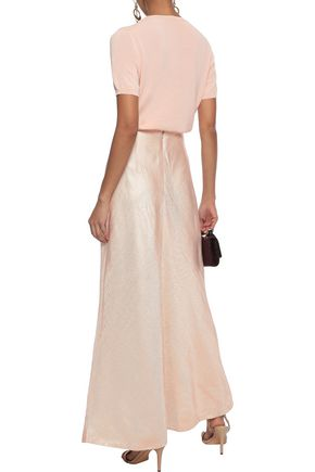 ZIMMERMANN Painted Heart Empire satin-twill maxi skirt
