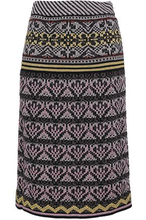 M MISSONI Metallic jacquard-knit skirt