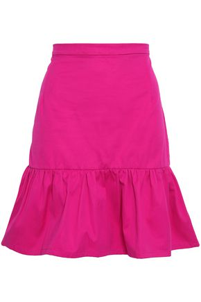 ISOLDA Fluted cotton-blend twill mini skirt