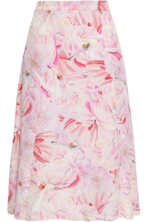 ISOLDA Floral-print silk skirt