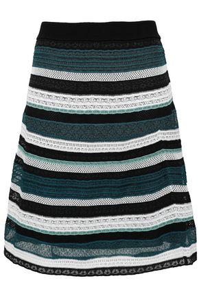 5640d402b725 M MISSONI Striped crochet-knit skirt