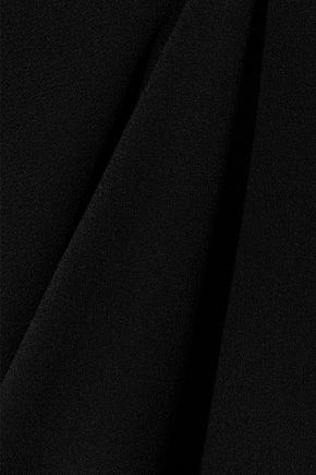 MARNI Layered draped crepe midi skirt