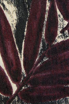 MARNI Printed cotton and silk-blend twill midi skirt