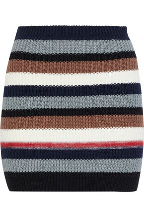 MARNI Striped cotton and wool-blend corset