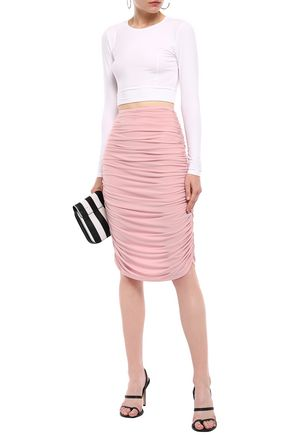 NORMA KAMALI Ruched tulle pencil skirt