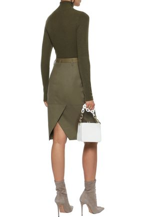 ALTUZARRA Wrap-effect cotton-twill skirt
