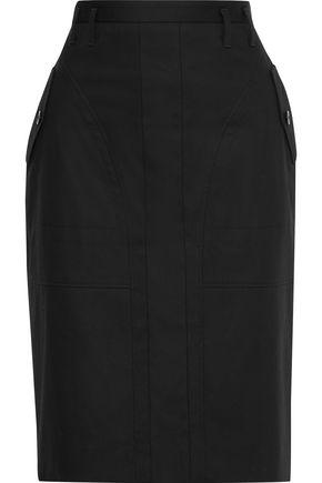 ALTUZARRA Wrap-effect cotton-twill skirt