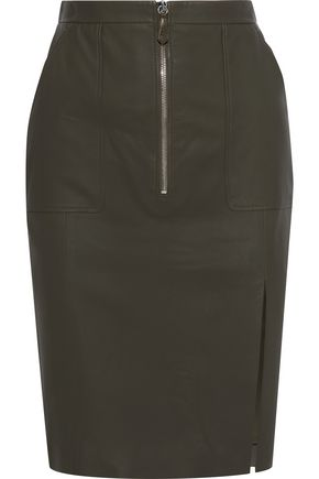 ALTUZARRA Leather pencil skirt