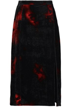 ALTUZARRA Printed velvet pencil skirt