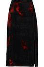 ALTUZARRA Printed velvet pencil skirt