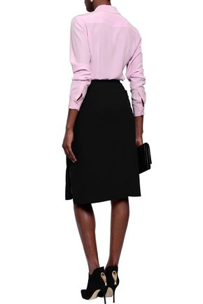 ALTUZARRA Draped crepe pencil skirt