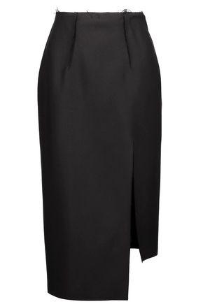 ACNE STUDIOS Frayed wool and silk-blend skirt
