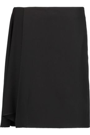 ACNE STUDIOS Leandra wrap-effect crepe mini skirt