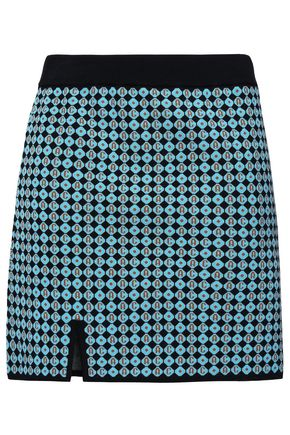 ALEXACHUNG Jacquard-knit mini skirt