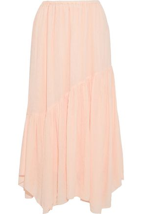 JOIE Hiwalani B gathered georgette midi skirt