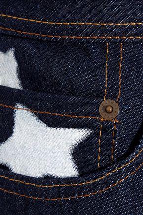 ACNE STUDIOS Shadow printed denim skirt
