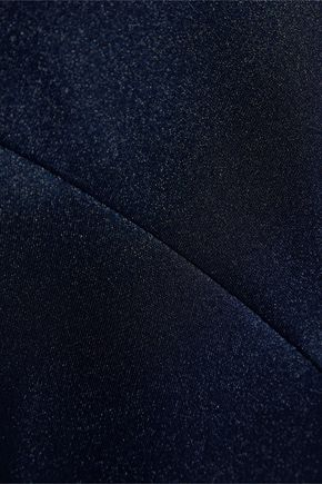 IRIS & INK Maisy asymmetric satin-crepe midi skirt