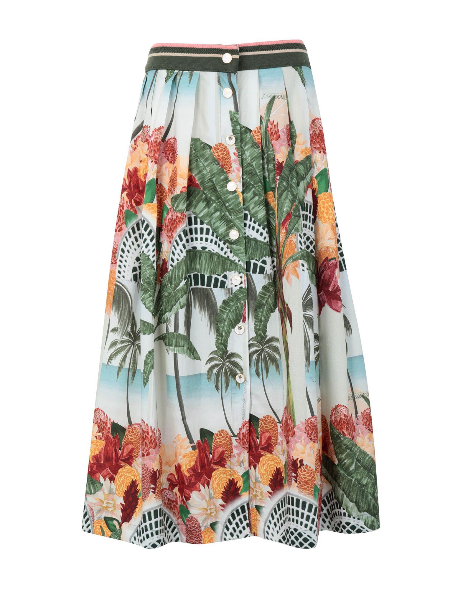 《期間限定セール中》?GUA DE COCO por LIANA THOMAZ レディース 7分丈スカート グリーン S コットン 100%