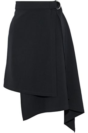 ROBERT RODRIGUEZ Asymmetric cady mini wrap skirt