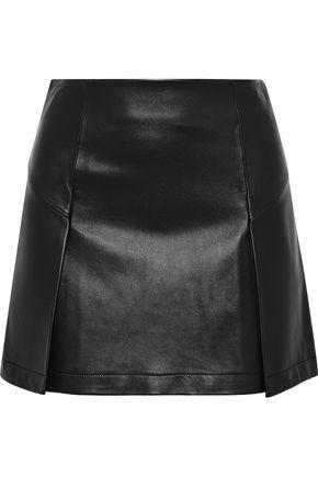 ROBERT RODRIGUEZ Metallic leather mini skirt
