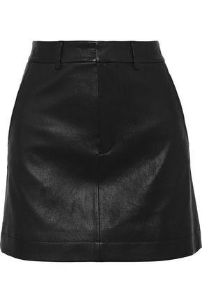 ROBERT RODRIGUEZ Leather mini skirt