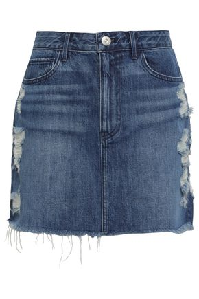 3x1 Celine distressed denim mini skirt