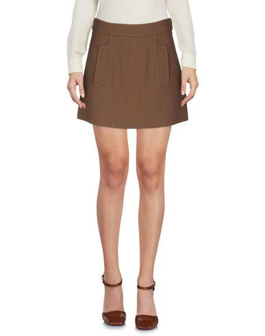 Фото 2 - Мини-юбка от P.A.R.O.S.H. коричневого цвета