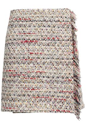 ADAM LIPPES Wrap-effect bouclé-tweed mini skirt