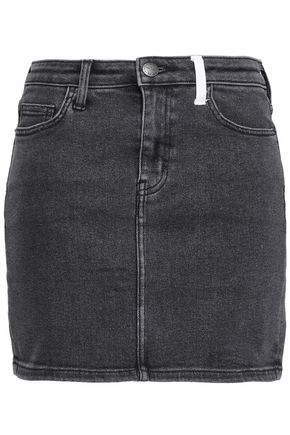 CURRENT/ELLIOTT Two-tone denim mini skirt