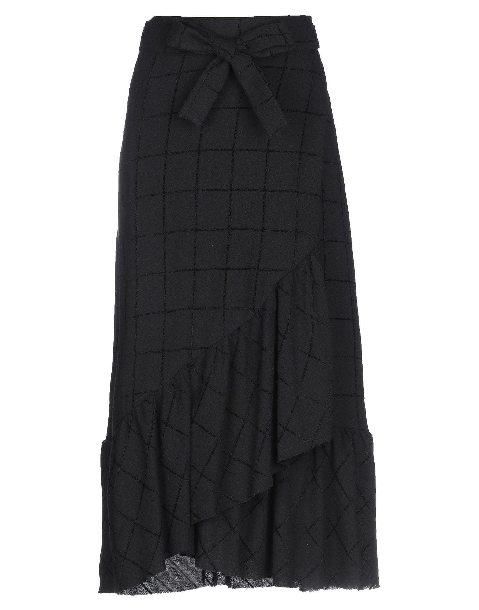 OTTOD'AME Юбка длиной 3/4 юбка с запахом на пуговицах