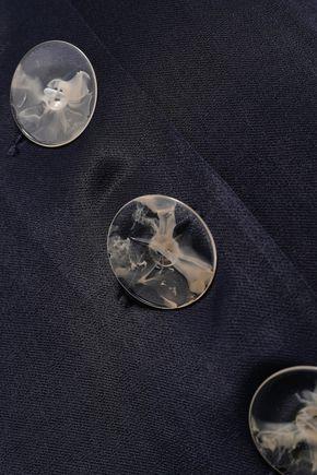 CHRISTOPHER ESBER Button-embellished satin midi skirt