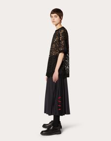 VLTN PLEATED JERSEY SKIRT